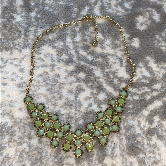 Francesca's Collections Jewelry - Green, blue and gold bauble necklace